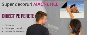 Super decoruri magnetice DIRECT PE PERETE