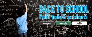 Back to school - Folii tabla scolara